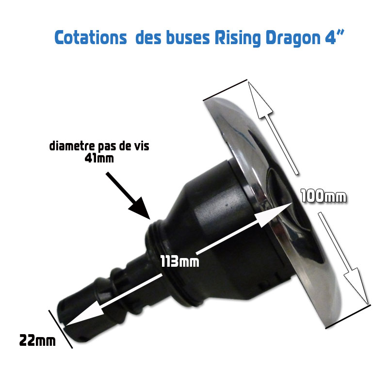 Cotations buse Rising Dragon 4 pouces