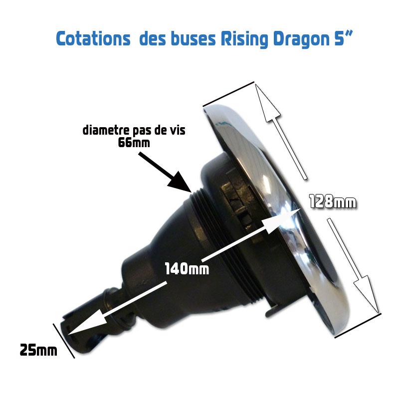 Cotations buse Rising Dragon 5 pouces
