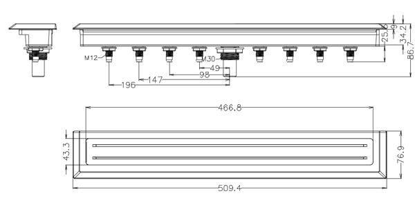 Dimensions Cascade L2325 - LVJ pour spa