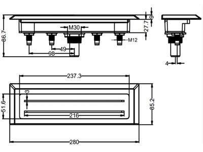 Dimensions Cascade L2326 - LVJ pour spa
