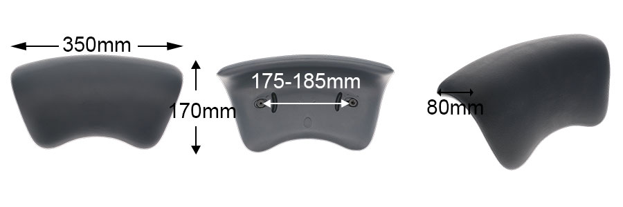 Dimensions appui tete eva308