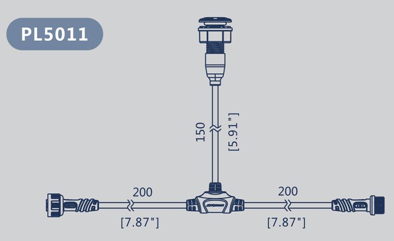 Dimension cable LED PL5011