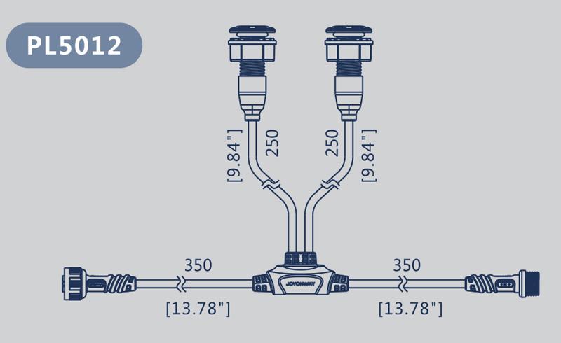 Dimension cable LED PL5012
