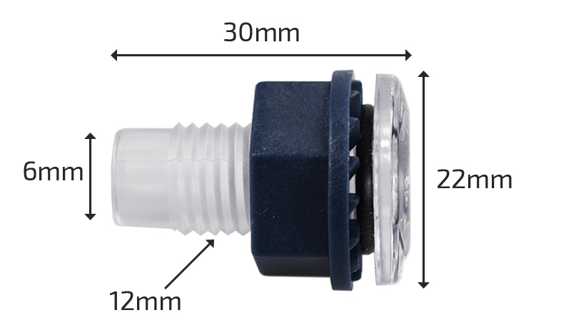 Dimension Traversée de parois LED Joyonway