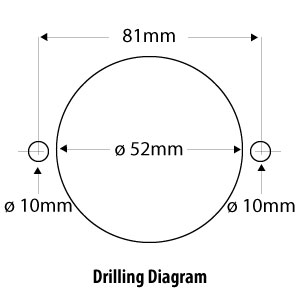 drilling diagram spa shell for water regulation valve 600-4407L