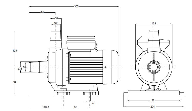 pompe basic de filtration pour spa