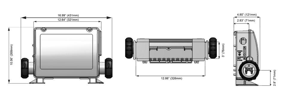 Control boxes dimensions