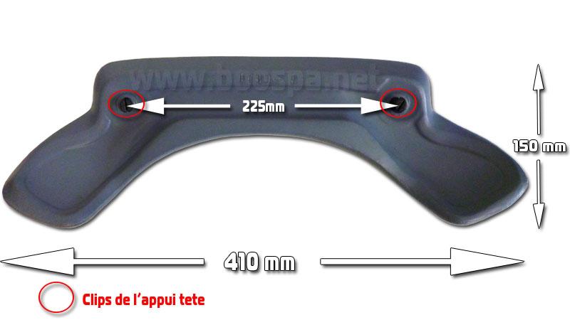 headrest measurements rounded