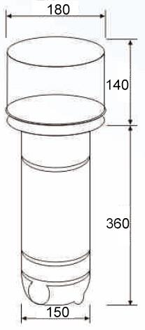 Dimensions skimmer L-2114