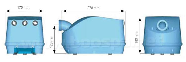 Dimensions hydro-air genesis air blower