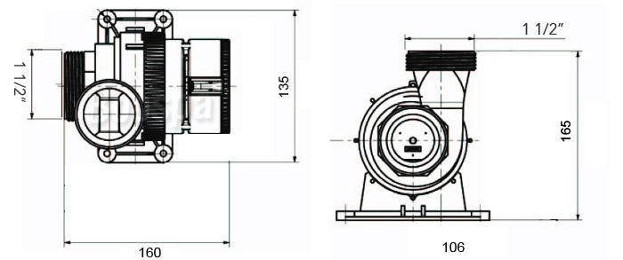 Pompe E14 Dimensions