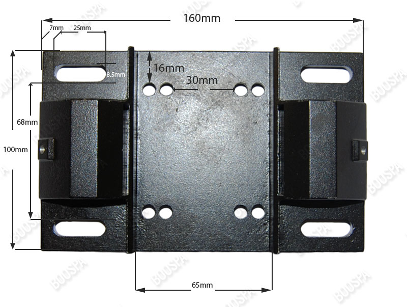 Dimensions Fitting plate