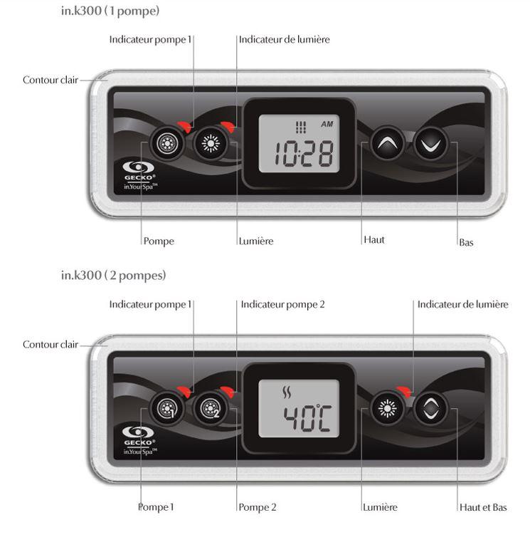 Schema du clavier IN.K-300