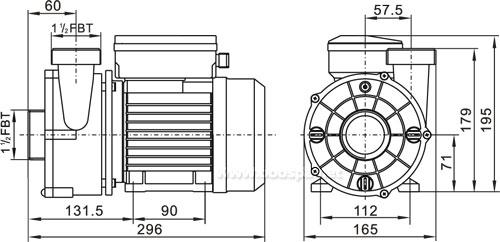 Pompe filtration spa WTC50M