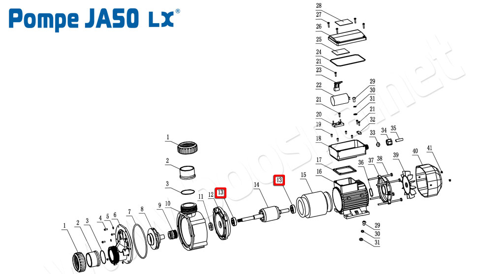 Whirlpool Hot Tub LX JA35 TDA35 JA50 TDA50 LP200 WP200 LP250 WP250 Impellors