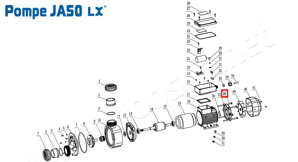 Vue éclatée de la pompe JA50