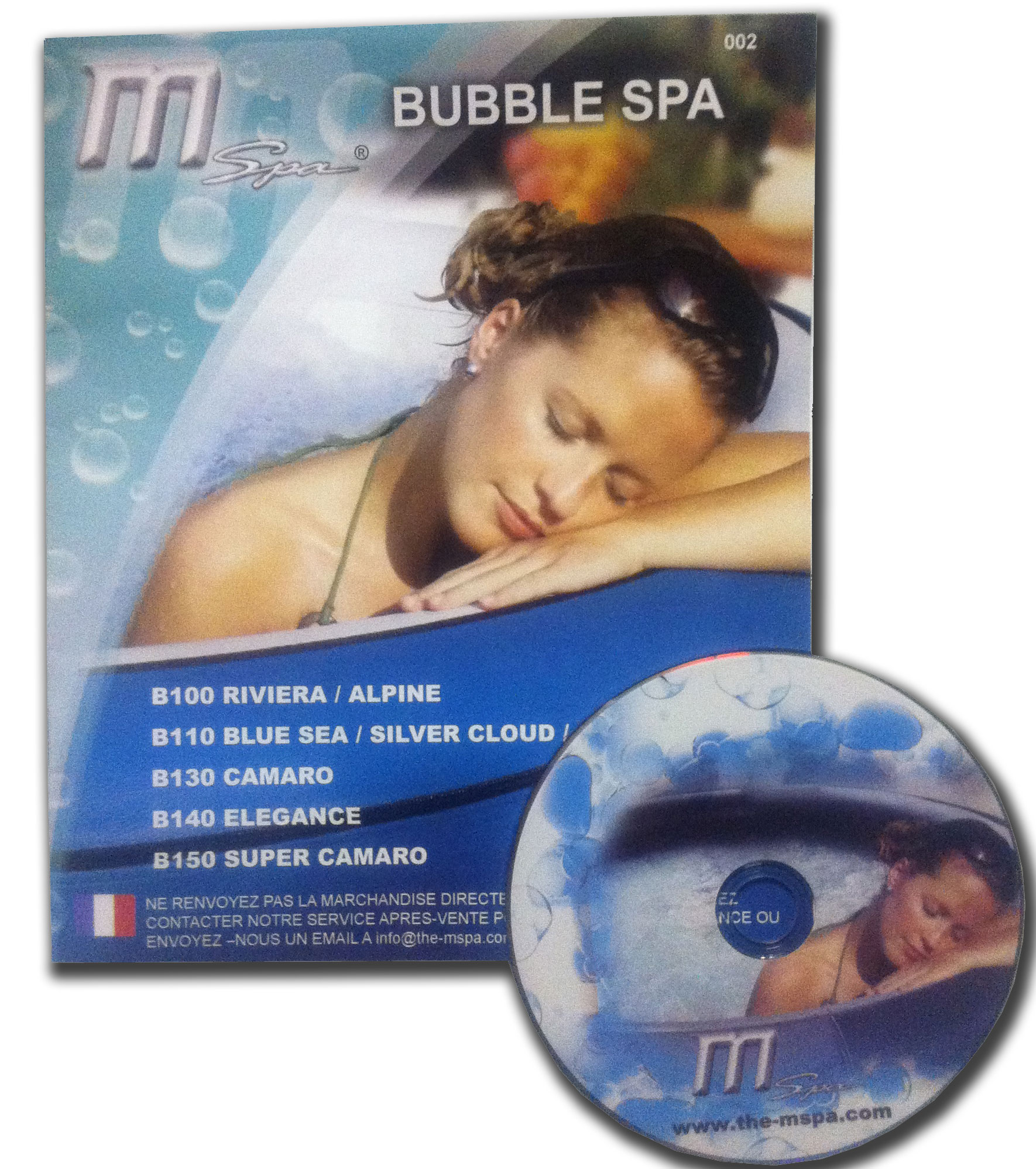Notice de montage et DVD spa gonflable MSPA | BOOSPA