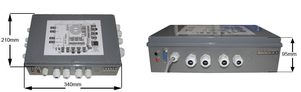 Dimensions boitier de contrôle PEIPS IV