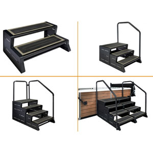 Escalier spa ModStep - Exemple de configuration
