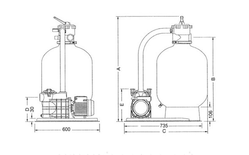 Dimensions filtration azur