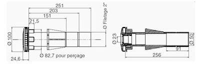 Dimensions TP260 et TP270